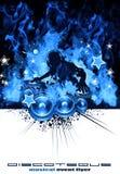 Brennender DJ-Musik-Hintergrund Stockbild