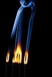 Brennender Duft stockfotos
