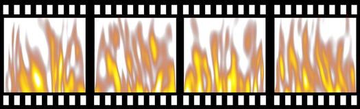 Brennender Film-Streifen Lizenzfreie Stockfotos