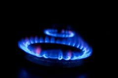 Brennender Gasbrenner Lizenzfreie Stockfotos