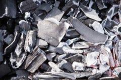 Brennender Grill des Holzkohlen-Ofens Lizenzfreies Stockfoto