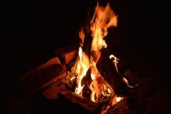 Brennender Herd Stockfotos