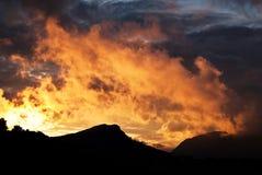 Brennender Himmel lizenzfreie stockfotografie