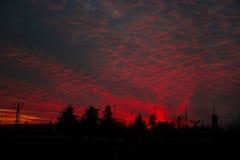 Brennender Himmel stockbild