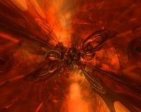 Brennender Hintergrund lizenzfreie abbildung