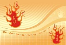 Brennender Hintergrund, Vektor Stockfotografie