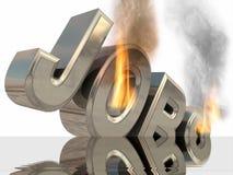 Brennender Job. lizenzfreie stockfotografie