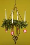 Brennender Kerzenhalter 2 lizenzfreies stockbild