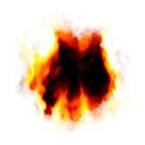 Brennender Loch-Plan lizenzfreie abbildung