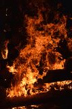 Brennender Magier Stockbild