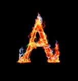 Brennender magischer Schrifttyp - A stock abbildung
