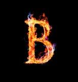 Brennender magischer Schrifttyp - B Lizenzfreie Stockfotografie
