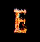 Brennender magischer Schrifttyp - E lizenzfreie abbildung