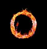 Brennender magischer Schrifttyp - O Lizenzfreies Stockfoto