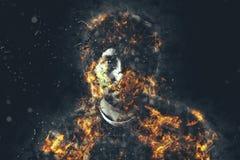 Brennender Mann Lizenzfreie Stockfotografie