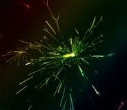 Brennender mehrfarbiger Sparkler Lizenzfreies Stockbild