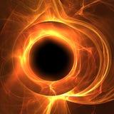 Brennender Mond Stockfotografie