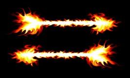 Brennender Pfeil Stockbild