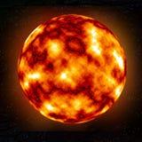 Brennender Planet Lizenzfreies Stockbild