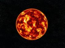 Brennender Planet. Stockfotos