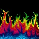 Brennender Regenbogenhintergrund stock abbildung