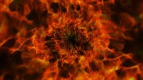 Brennender Ring, Flammen Hintergrund, Natur Stockfoto