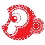 Brennender roter Affe Chinesisches neues Jahr astrologie Lizenzfreies Stockfoto