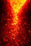 Brennender roter und gelber Quarz-Kristall-Hintergrund Lizenzfreie Stockfotografie