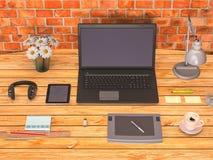 Brennender Schreibtischspott oben Lizenzfreies Stockbild