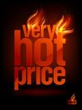 Brennender sehr heißer Preis, Verkaufshintergrund. Lizenzfreies Stockbild