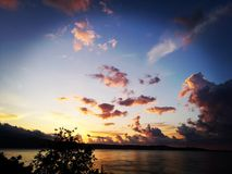 Brennender Sonnenuntergang stockfotografie