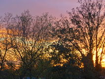 Brennender Sonnenuntergang Lizenzfreie Stockbilder