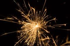 Brennender Sparkler Lizenzfreies Stockbild