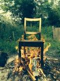 Brennender Stuhl Lizenzfreie Stockbilder