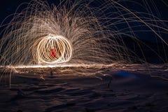 Brennender Tanz stockfotos