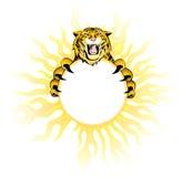 Brennender Tiger. Stockfotos