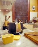 Brennender Toast Lizenzfreies Stockfoto