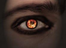 Brennendes Auge lizenzfreie stockbilder