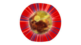 Brennendes Auge Blinkens vektor abbildung