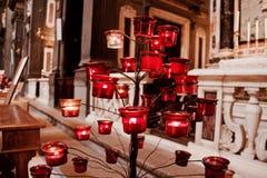 Brennendes candel Lizenzfreies Stockbild