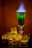 Brennendes Cocktail Stockfotografie