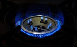 Brennendes Erdgas Stockfoto