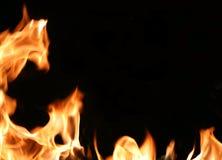 Brennendes Feld stockbilder