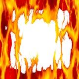 Brennendes Feld. Stockfotos
