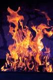 Brennendes Feuer Stockbild