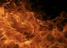 Brennendes Feuer flammt Detail Lizenzfreie Stockbilder