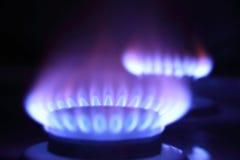 Brennendes Gas Stockfotografie