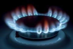 Brennendes Gas Stockfotos