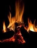 Hölzernes Feuer Lizenzfreie Stockbilder