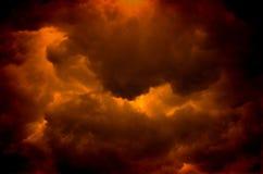 Brennendes Inferno Lizenzfreie Stockfotos